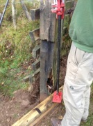 Jacking the fence post out