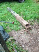 Gate post removed