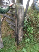 Second gate post